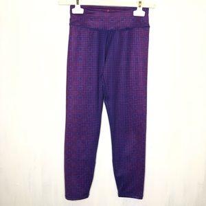 Prana Roxanne Purple Printed Crop Leggings XS